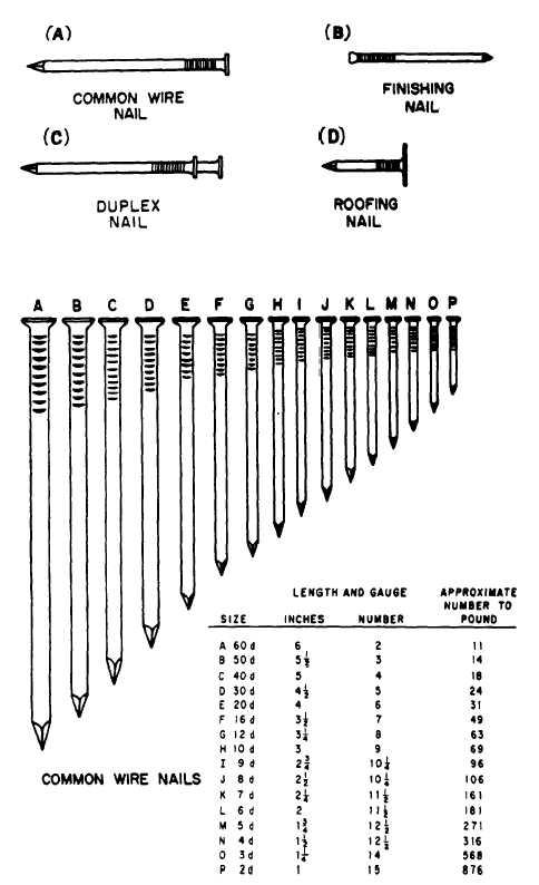 Nail Sizes Chart - Nail Ftempo |Common Nails Sizes